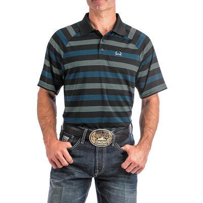 Cinch Men's Striped Arenaflex Polo