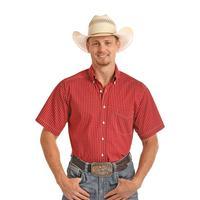 Panhandle Slim Men's Red Print Tuf Cooper Performance Shirt