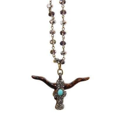 Bling Bullskull Necklace