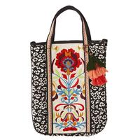Women's Leopard Embroidered Tote