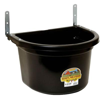 Miller Mfg. Duraflex Little Giant 20 qt. Fence Feeder, Black