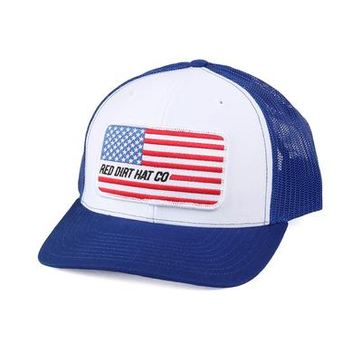 Red Dirt Hat Co.'s Blue and White Memorial Flag Cap