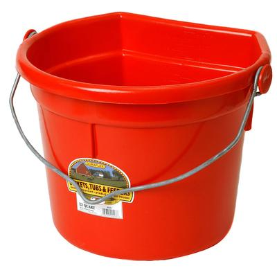 Miller Mfg. Duraflex 22 Qt. Flat Back Bucket, Red