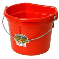 Miller Mfg. Duraflex 22 Qt. Flat Back Bucket, Red