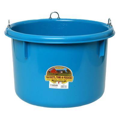 Miller Mfg. Duraflex 8 Gallon Round Plastic Feeder, Teal
