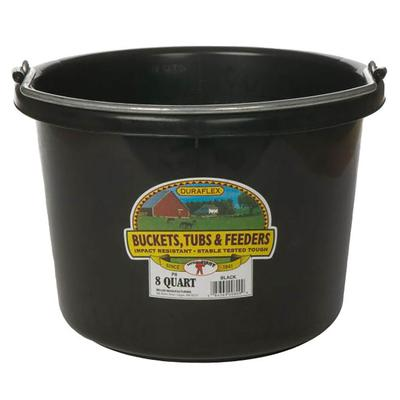 Miller Mfg. Little Giant 8 Qt. Plastic Bucket, Black