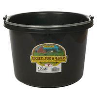 Miller Mfg. Little Giant 8 Qt. Plastic Bucket, Black