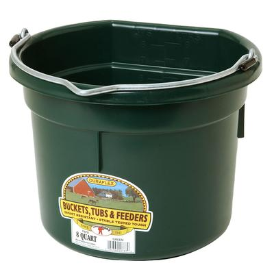 Miller Mfg. Little Giant 8 Qt. Flat Back Bucket, Green