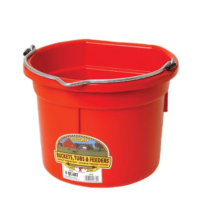 Miller Mfg. Little Giant 8 Qt. Flat Back Bucket, Red