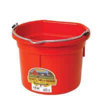 Miller Mfg. Little Giant 8 Qt. Flat Back Bucket, Red