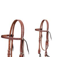 Cactus Saddlery Harness Leather Browband Headstall