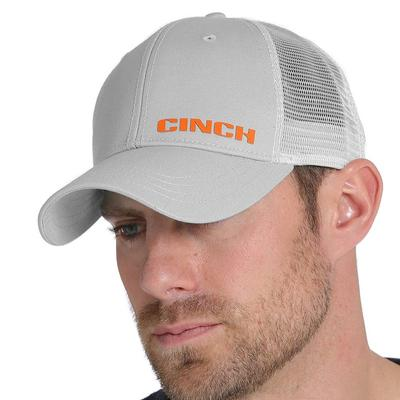Cinch Men's Gray Mesh Back Trucker Cap