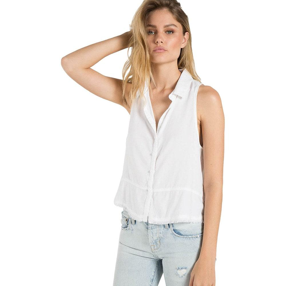 b01155ef3 Bella Dahl Women's Sleeveless Seamed Button Down Top