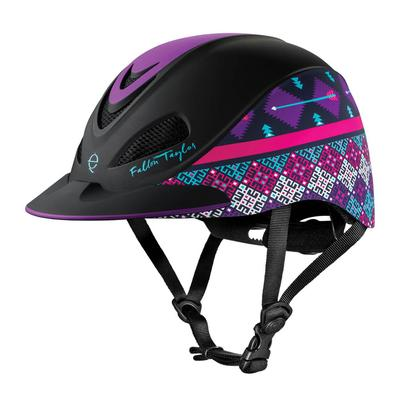 Troxel Fallon Taylor Purple Geo Riding Helmet