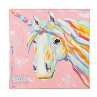 Imagine Dream Believe Unicorn Canvas