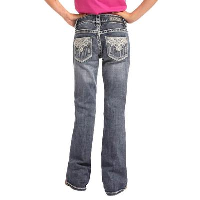 Rock & Roll Denim Girl's Aztec Embroidered Jean