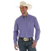 Wrangler Men's 20X Purple and White Competition Advanced Comfort Shirt
