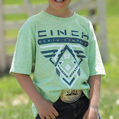 Cinch Boy's Lime Green Tri-Color T-Shirt