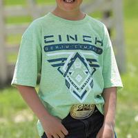 Cinch Boy's Lime Green Tri-Color T-Shirt