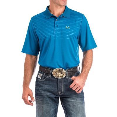 Cinch Men's Turquoise Arenaflex Polo