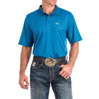 Cinch Men's Turquoise Arenaflex Polo
