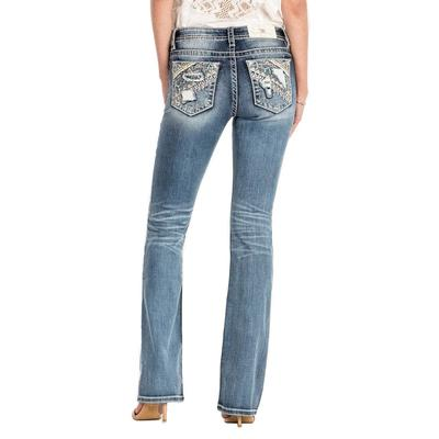 Miss Me Women's Break It Up Mid-Rise Jean