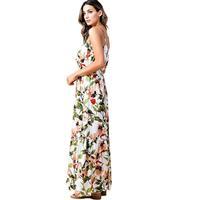 Kori America Women's Crinkle Floral Long Dress