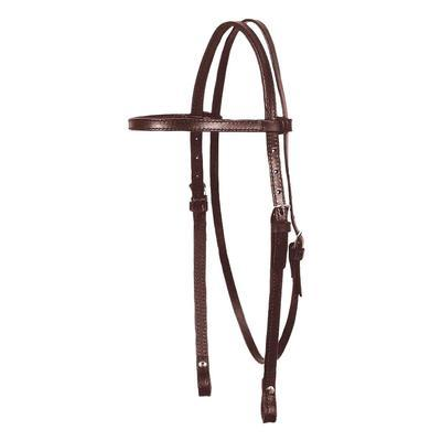 Circle Y Classic Smooth Browband Headstall, Walnut