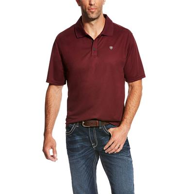 Ariat Men's Maroon Tek Polo
