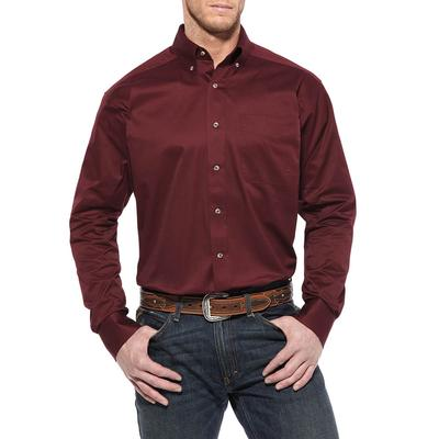 Ariat Men's Solid Burgundy Twill Shirt