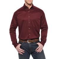 Ariat Men's Solid Burgundy Twill Shirt