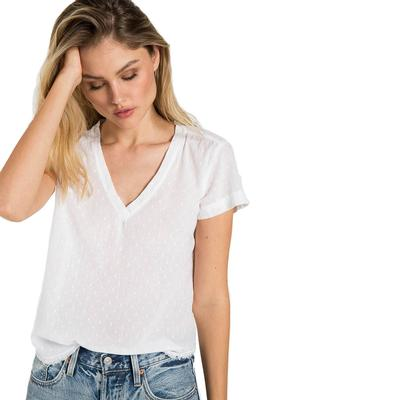 Bella Dahl Women's White V- Neck Tee