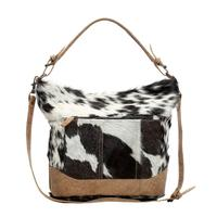 Myra Bag's Dual Strap Hair-On Shoulder Bag