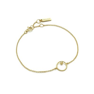 Ania Haie's Orbit Chain Circle Bracelet GOLD