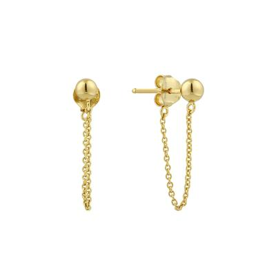 Ania Haie's Modern Minimalism Chain Earrings GOLD