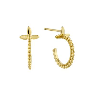 Ania Haie's Modern Minimalism Cross Chain Earrings GOLD