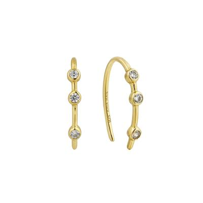 Ania Haie's Touch of Sparkle Stud Hoop Earrings GOLD
