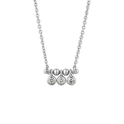 Ania Haie's Touch of Sparkle Stud Bar Necklace SLV