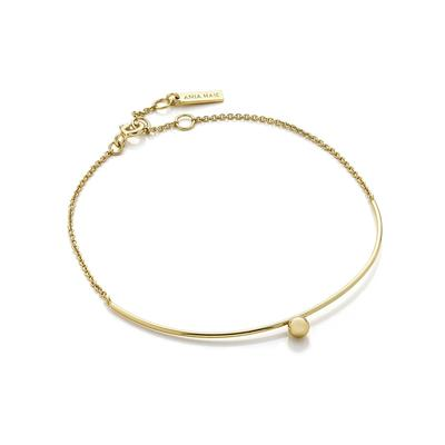 Ania Haie's Orbit Solid Bar Bracelet GOLD