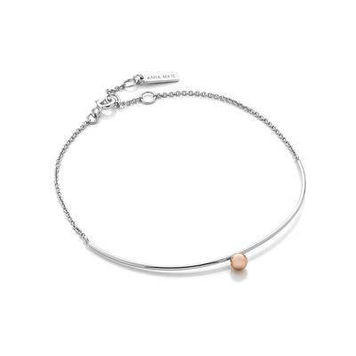 Ania Haie's Orbit Solid Bar Bracelet RGSLV