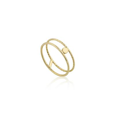 Ania Haie's Texture Mix Double Band Ring GOLD
