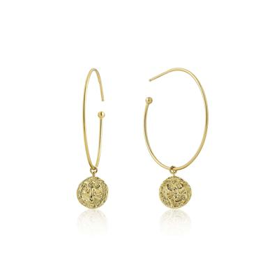 Ania Haie's Coin Hoop Earrings GOLD