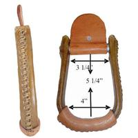 Chino Tack Rawhide Covered Wood Bronco Stirrups