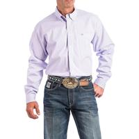 Cinch Men's Lilac and White Striped Shirt