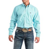 Cinch Men's Turquoise and White Striped Shirt