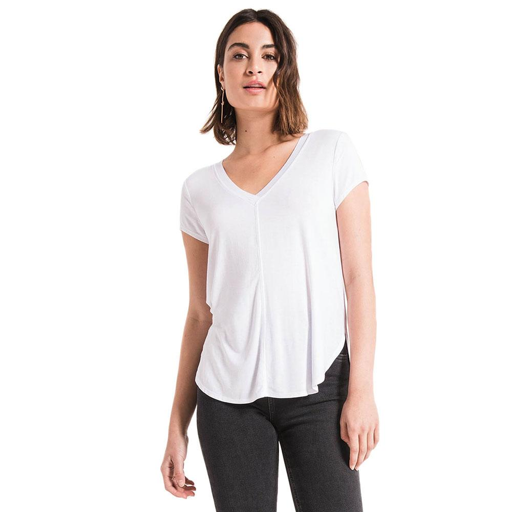 Z Supply Womens Mya Premium Sleek Jersey V Neck T Shirt