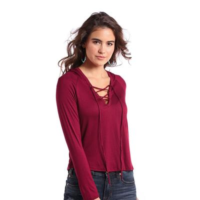 Panhandle Slim Women's Lace-Up Hooded Top