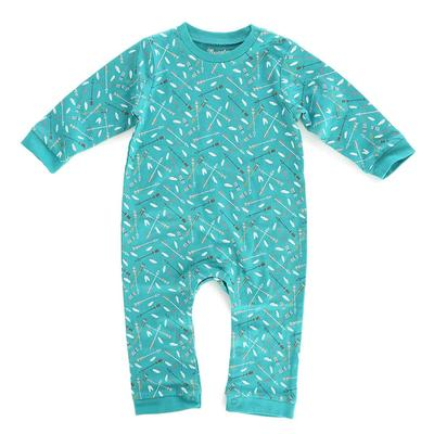 Wrangler Infant's Long Sleeve Allover Arrow Print Bodysuit