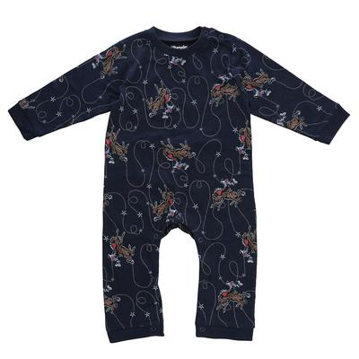 Wrangler Infant Boy's Long Sleeve Allover Cowboy Print Bodysuit