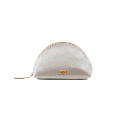 Consuela's Plata Glitz Large Dome Cosmetic Case